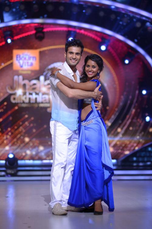 Contestant Karan Tacker with his choreographer Suchitra