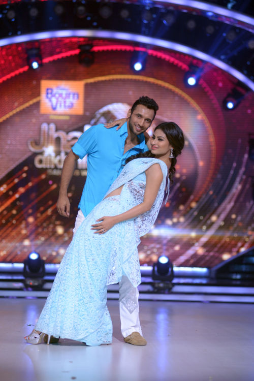 Contestant Mouni Roy with her choreographer Punit