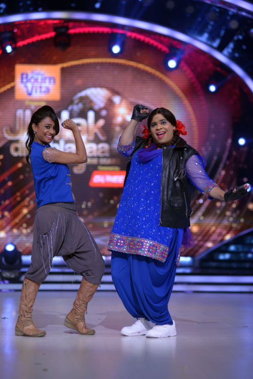 Contestant Palak with her choreographer Kruti