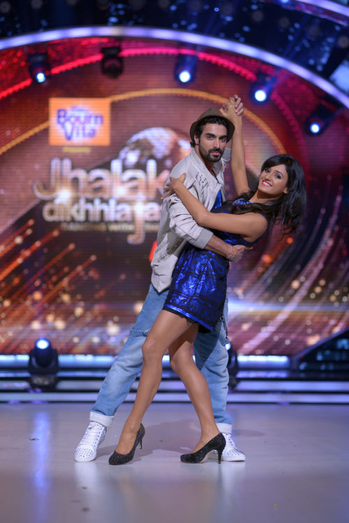 Contestant Shakti Mohan with her choreographer Tushar