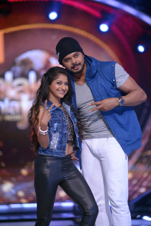 Contestant Sreesanth with his choreographer Sneha