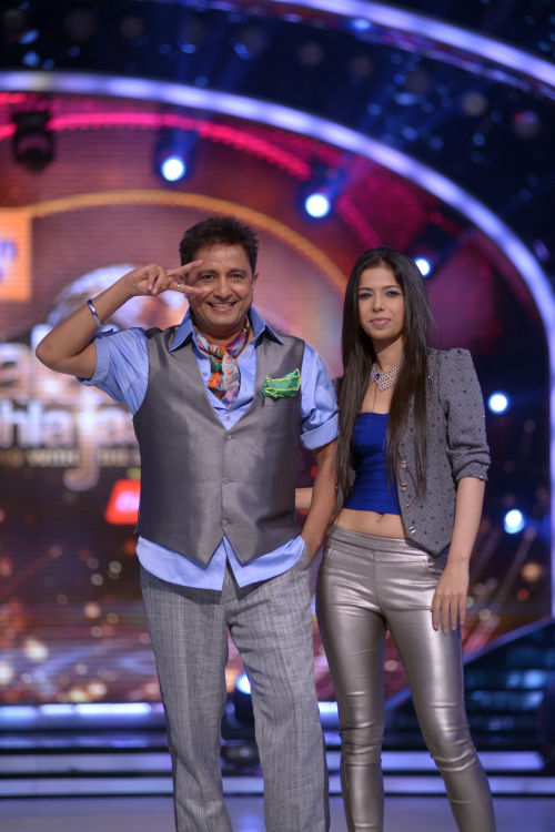 Contestant Sukhwinder with his choreographer Bhavna