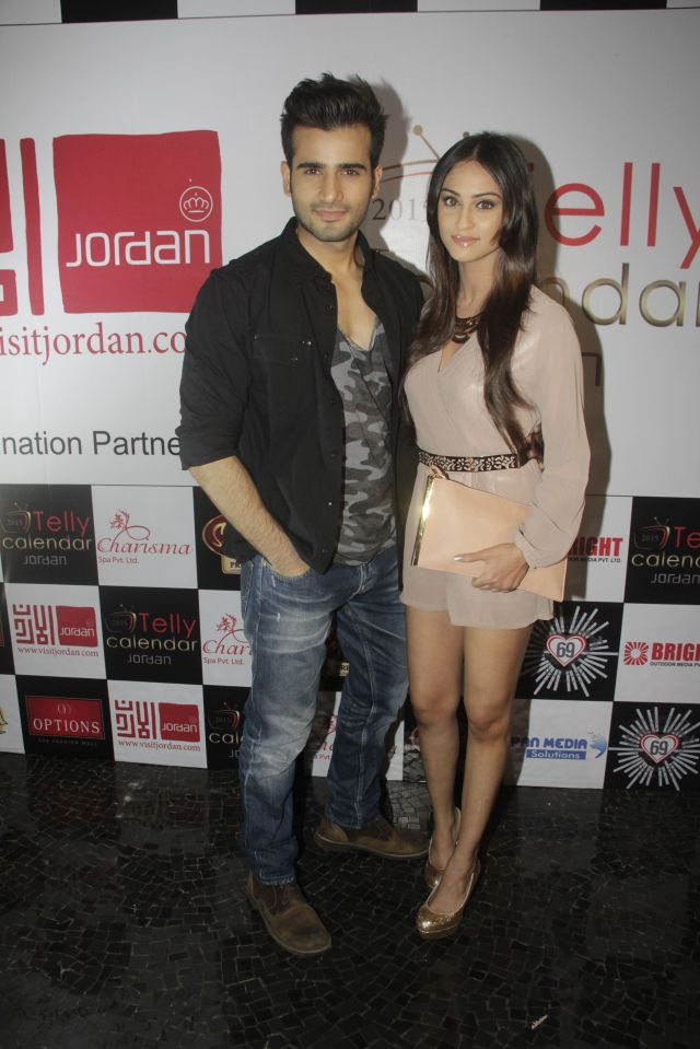 21Karan Tacker and Krystle D'souza @Telly Calendar announcement party