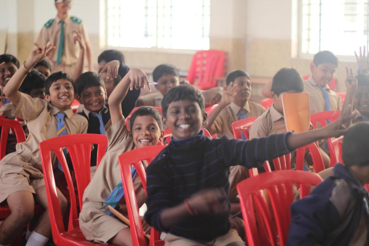 Children Ecstatic after the Program