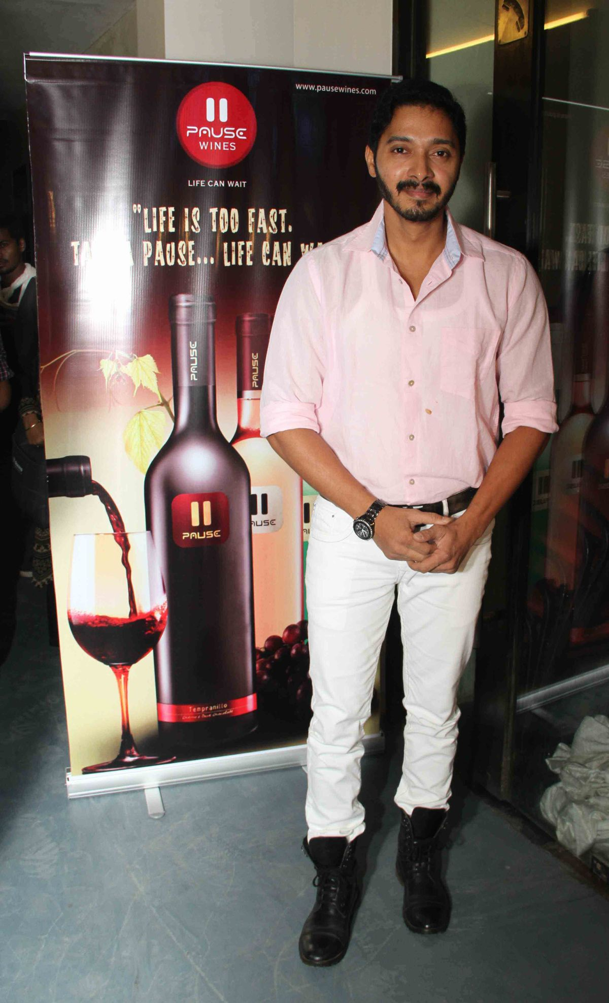 ​Shreyas Talpade at wine tasting evening conducted by Pause Wine at Juhu