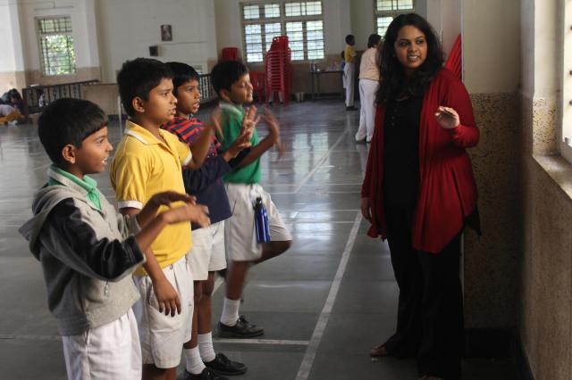 Harini Ramachandran working with Children for Peak Performance using New Code NLP
