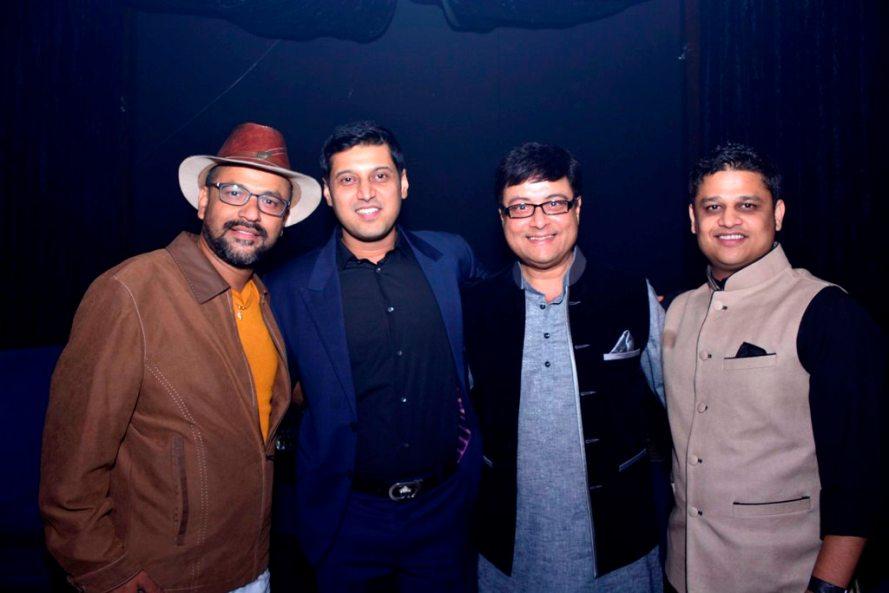 (L-R) Rahul Jadhav, Abrar Nadiadwala, Sachin Pilgaonkar and Vaibhav Bhor
