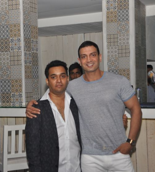 Owner Naveen Prem with Timmy Narang