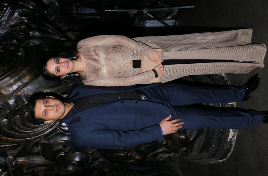 Producers Abrar Nadiadwala with his wife