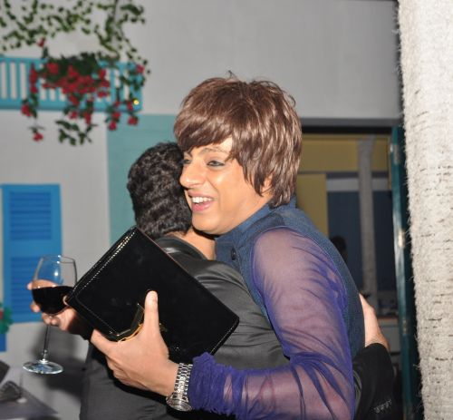 Rohit Verma hugs friend at Kipos