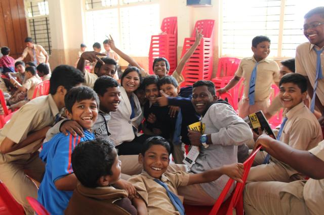 uPwithNLP Volunteers after working with the Children