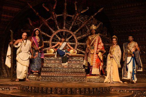 The cast of Chakravartin Ashoka Samrat at the launch of the show