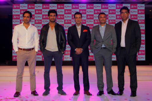 Abhimanyu Singh, CEO - Contiloe, Sharad Kelkar, Ronit Roy, Rajesh Iyer - Business Head, &TV, Deepak Dhar - CEO, Endemol Shine India