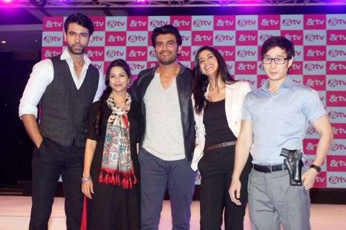 Danish Podar, Deepali Pansare, Sharad Kelkar, Ahana Kumra, Jason Tham of &TV's  new show Agent Raghav - Crime Branch