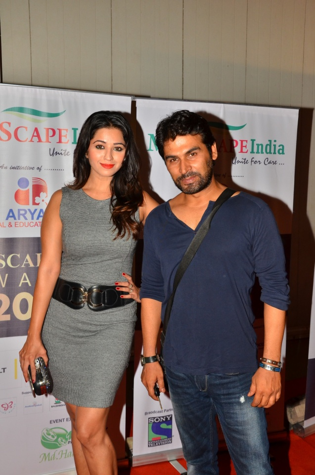Actress Riddhima Tiwary with actor writer Vinod Tharani