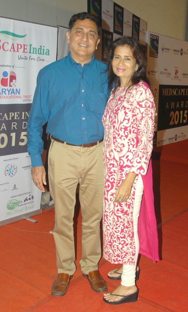 Eye surgeon Dr. Himanshu Mehta with Wife
