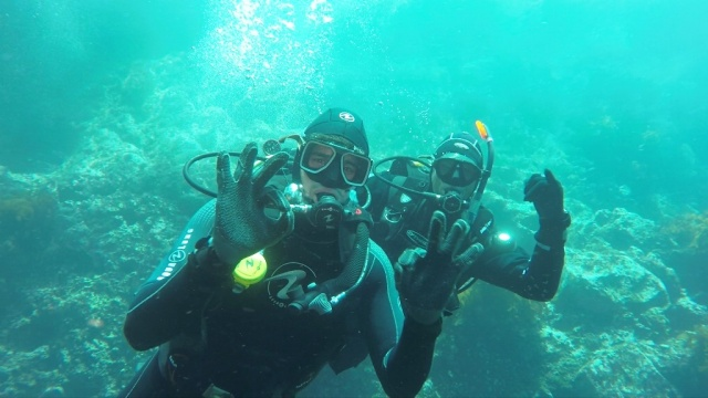 Sidharth diving at Poor Knights Island