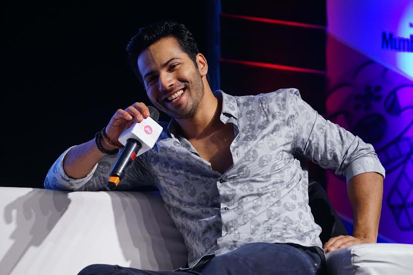 Bollywood actor Varun Dhawan speaks during the Movie Mela at the Jio MAMI 17th Mumbai Film Festival, in Mumbai, India on October 31, 2015. (Sherwin Crasto/SOLARIS IMAGES)