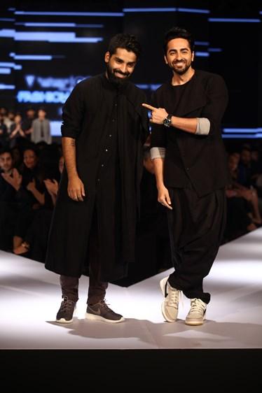 Ayushmann Khurrana and Ujjawal Dubey on Day 2 of Van Heusen + GQ Fashion Nights