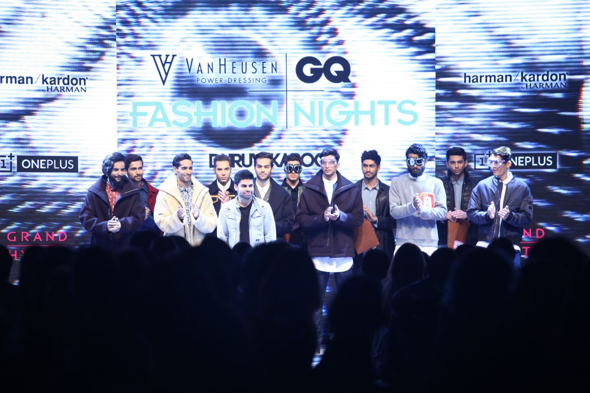 Dhruv Kapoor and the Models on Day 02 at Van Heusen+GQ Fashion Nights (10)