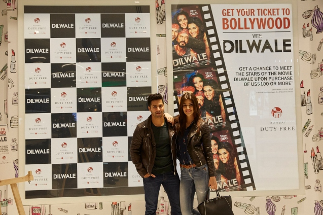 Dilwale Team at Mumbai Duty Free (4)