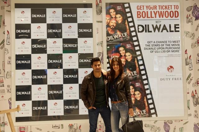 Dilwale Team at Mumbai Duty Free (4)