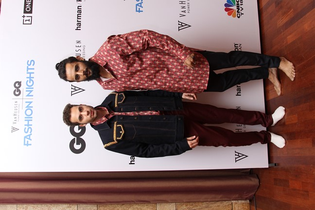 Rohit and Rahul - Van Heusen GQ Fashion Nights Fittings Day 2