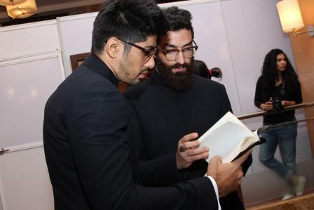 Ujjawal Dubey and Dhruv Kapoor Fittings at Van Heusen + GQ Fashion Nights_1