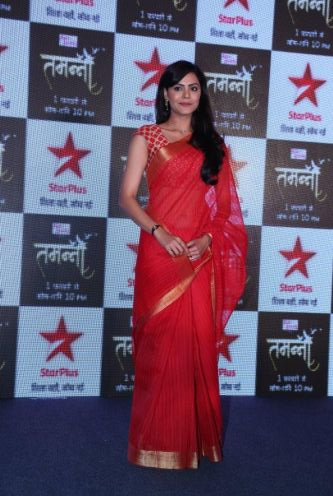 Dharaa aka Anuja Sathe poses for the camera at the press launch of Star Plus's new  show Tamanna...jpg