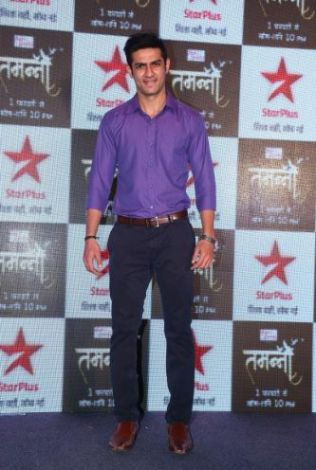 Husband - Mihir aka Vishal Gandhi poses for the camera at the press launch of Star Plus's new show Tamanna..