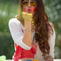 Madhur Bhandarkar's Calendar Girl's Movie's Fame Actress Akansha Puri Celebrates DRY HOLI