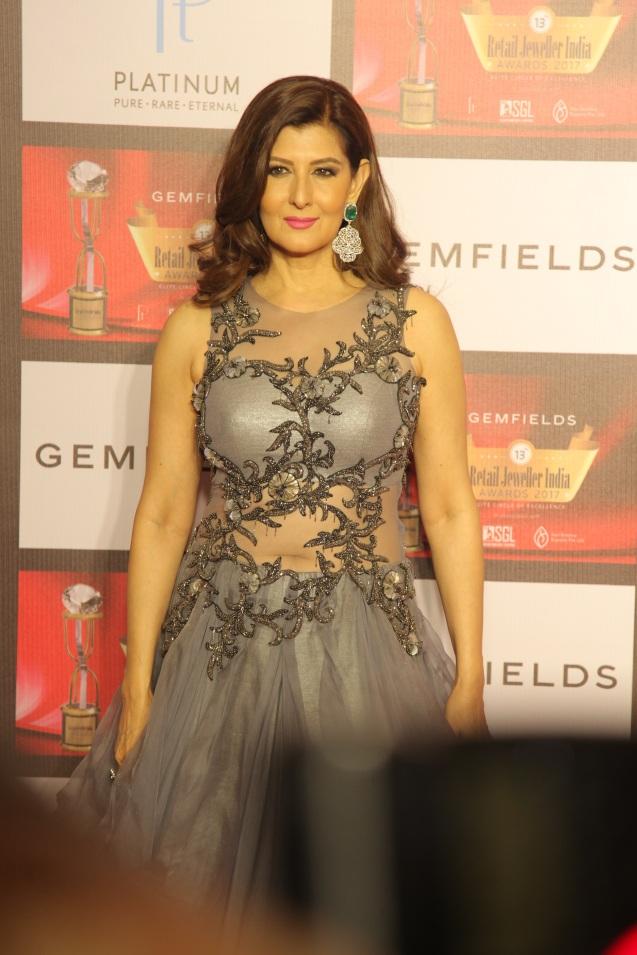 Sangeeta Bijlani at the 13th Gemfields Retail Jeweller India Awards 2017