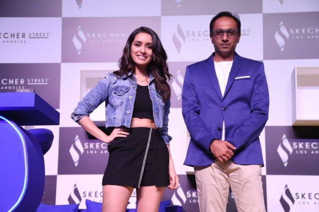 Shraddha Kapoor and Mr. Rahul Vira, Chief Executive Office, Skechers Sou...