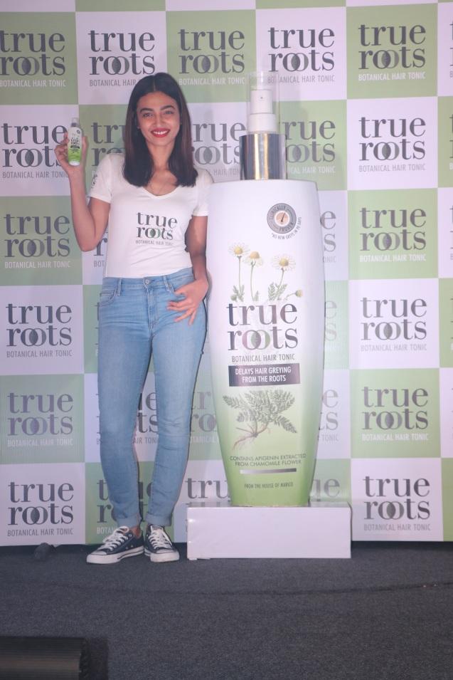 Radhika Apte launches Marico's True Roots Botanical Hair Tonic