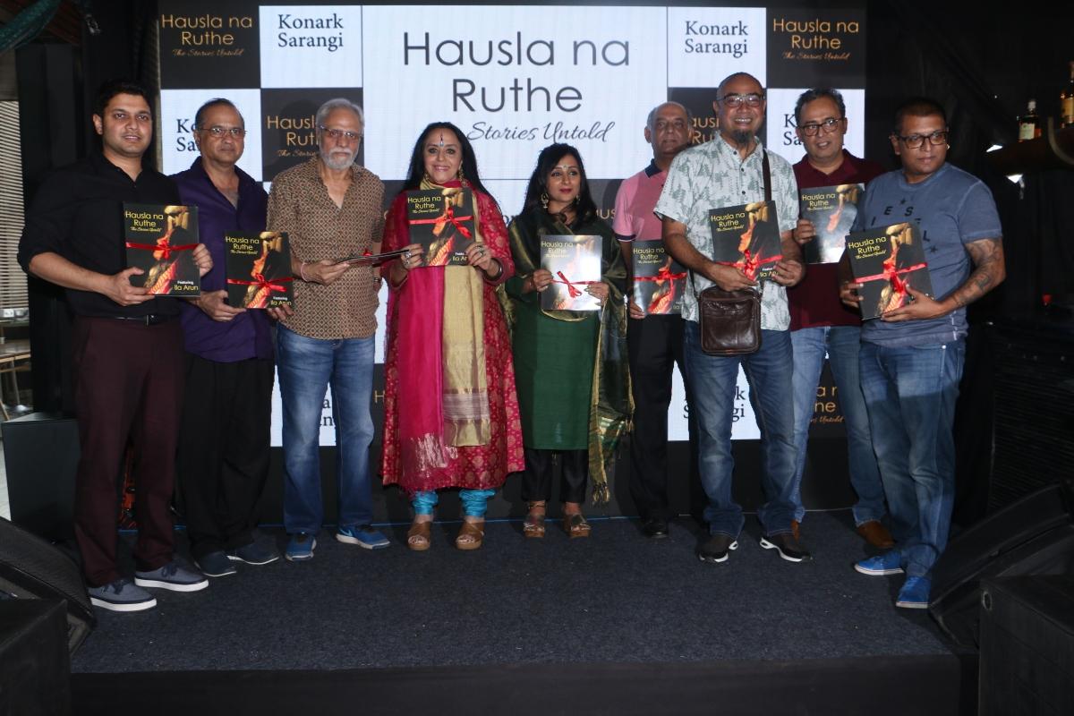 L-R- Konark Sarangi, Aslam Khan, KK Raina, Ila Arun, Pinky Poonawala, Atul Chudamani, Amber Das, Soumitra Mitra and Sanjoy Dazz